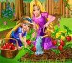 Anne Rapunzel Bahçe Bakımı Oyunu Oyna